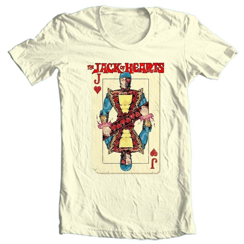 The Jack of Hearts T-Shirt classic vintage Marvel comics 100% cotton tee 1970s