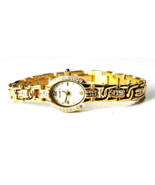 Women's Elgin Gold Tone MOP Dial Wristwatch EG125N 16mm CZ Bezel & Band - €18,25 EUR