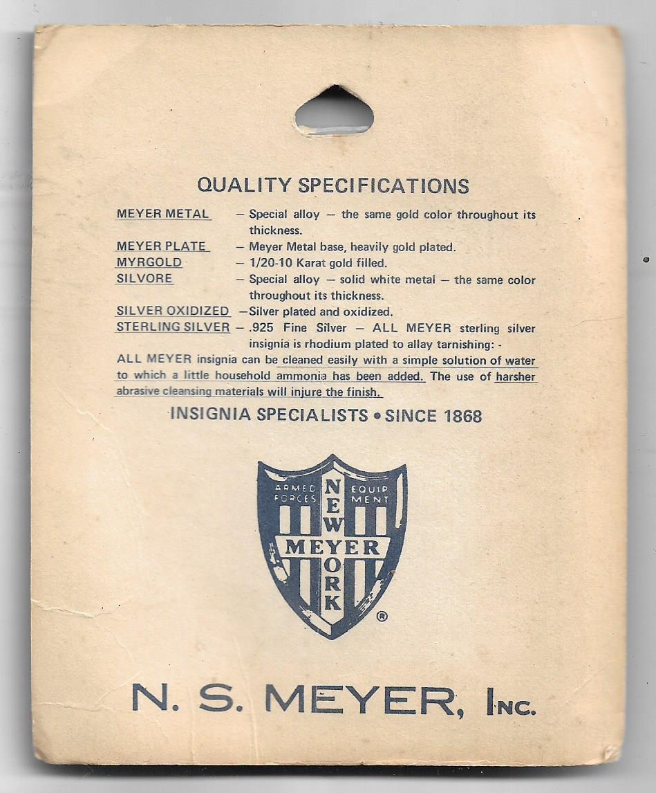 US Army Quartermaster Vintage Vietnam Pins