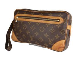 LOUIS VUITTON Marly Dragonne Monogram Canvas Leather Pochette Clutch Bag... - $224.10