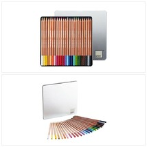 COLOUR BLOCK 24 Colored Pencils with Cedar Handles, Set Comes in a Tin S... - $27.10