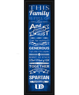 "University of Dubuque Spartans - 24 x 8 ""Family Cheer"" Framed Print - $39.95"