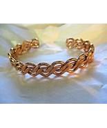 """Open Weave Wave Copper Tone Cuff Bracelet 1/2"""" 10MM Wide Unisex - $16.82"""