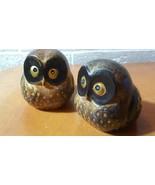 Bone China Owl pair Vintage OMC Japan - $6.44