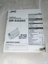 JVC VHS Compact Camcorder GR-SX850 Instructions Manual - $11.94