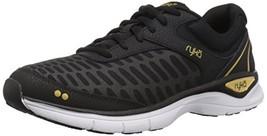 Ryka Women's RAE Walking Shoe, Black, 8.5 M US