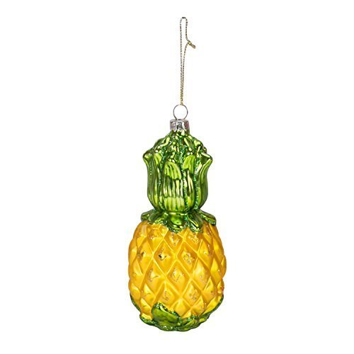 Beachcombers Blown Glass Pineapple Orn.