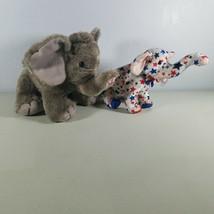 TY Beanie Babies Elephants Republican Right 2004 & Wild Republic Plush L... - $15.99