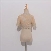 Long Sleeve Wedding Lace Cover Ups Retro Style Lace Bridal Boleros, white, plus image 7