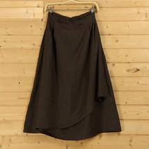 Cotton Linen Wrap Skirts Women A Line Long Casual Skirt, Khaki Army Green Black image 8