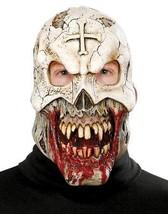 Zombie Mask Voodoo Priest Bloody Prop Monster Adult Latex Halloween PM77... - $32.99