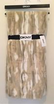 DKNY Blizzardy Mink Sculpted Faux Fur Tan Cream Soft Plush Throw Blanket... - $59.09