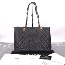 BRAND NEW AUTH CHANEL QUILTED CAVIAR GST GRAND SHOPPING TOTE BAG image 1