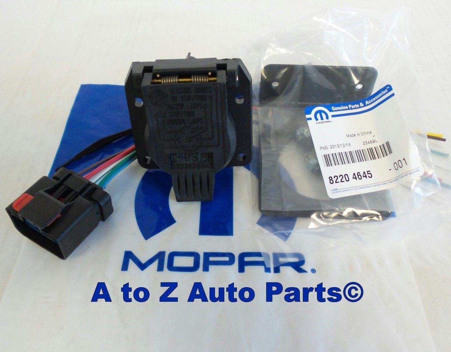 Mopar Oem Dodge Ram Trailer Tow Wiring Harness Kit Solutions Repair Dakota Durango Jeep 7 Way And 37 Similar Items