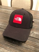 The North Face Patches Trucker OSFA Snapback Ball Cap Hat Black & Red Pa... - $26.73