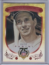 BROOKS ROBINSON 2014 Panini Hall of Fame Red Frame Red #09/50 #56 (C5585) - $3.56