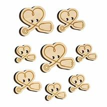 Nurse Doctor Heart Shaped Stethoscope Wood Buttons for Sewing Knitting C... - $9.99
