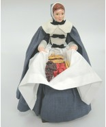 "Simpich Character Dolls Pilgrim Woman With Fruit & Corn Harvest 12"" Than... - $282.14"