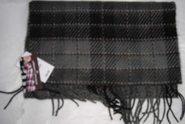New Womens D & Y Gray & Black Plaid Cashmere Feel Soft Scarf $20 - $10.00