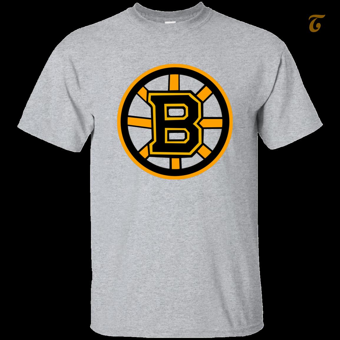 Boston, Burins, Hockey, Team, Men's T shirt - Sport Grey