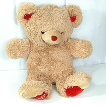 Dan Dee Sweetheart Teddy Bear 2013 Brown Tan Valentines Heart Nose 19 inch - $19.79