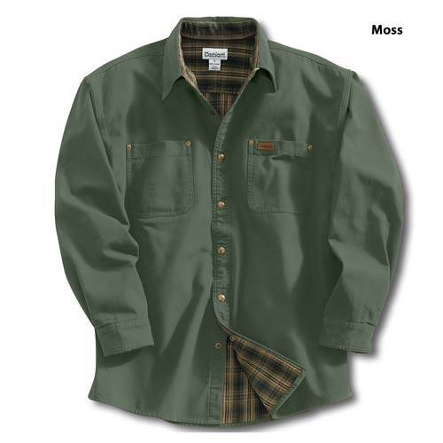 size 2xl tall carhartt shirt jacket s96 moss mens flannel