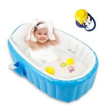 Baby Inflatable Bathtub, Portable Bathtub Infant Toddler Non Slip Bathin... - $64.42