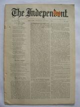 The Independent Vol XLVIII October 1, 1896 No. 2496 - $25.00