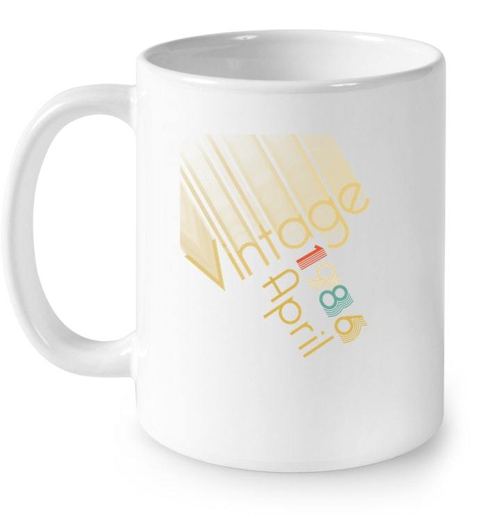 Vintage Retro Classic Born In April 1986 Gift 32 Years Old Gift Coffee Mug