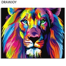 Colorful Abstract Lion Framed Picture Painting & Calligraphy DIY Paintin... - $132,68 MXN+