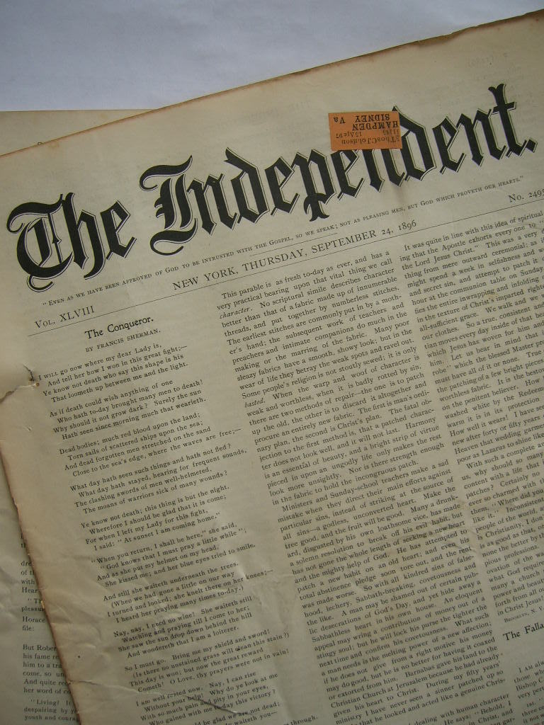 The Independent Vol XLVIII September 24, 1896 No. 2495