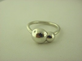 Pandora Liquid Silver 2 Bubbles Ring Sz 7 - $45.08
