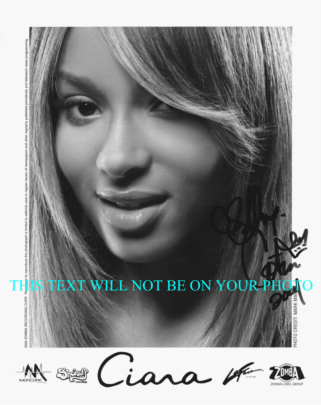Primary image for CIARA SIGNED AUTOGRAPHED 8x10 RP PROMOTIONAL PHOTO ONE TWO STEP 1 2