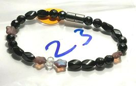 Beaded Bracelet Magnetic Hematite Clasp Single Strand   7 Inch   (MAG-023) image 3