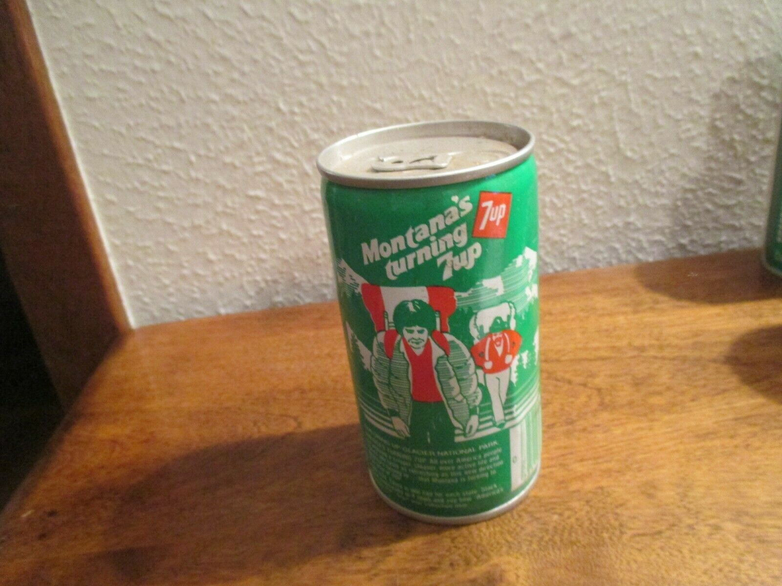 Primary image for Montana MT Turning 7up vintage pop soda metal can exploring glacier national par