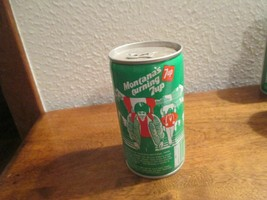 Montana MT Turning 7up vintage pop soda metal can exploring glacier nati... - $10.99