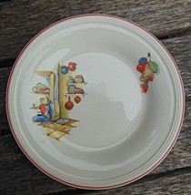 "Set of 4 Salad Plates 6.5"" Red Rim Knowles Sleeping Mexican Vintage - $27.00"