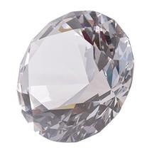 LONGWIN 80mm3.1 inch Crystal Diamond Paperweight Jewels Wedding Decorati... - $12.78
