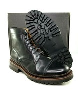 Frye George Norwegian Cap Toe Boots Size 11 Mens Black Leather Combat MS... - $373.96