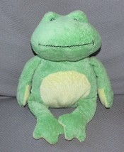 TY PLUFFIES 2007 Pluffy Green Yellow Stuffed Animal Plush PONDS FROG Toy... - $18.80
