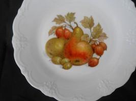 Tirschenreuth Germany Baronesse Salad / Dessert Plate Pears & Figs Desig... - $6.50