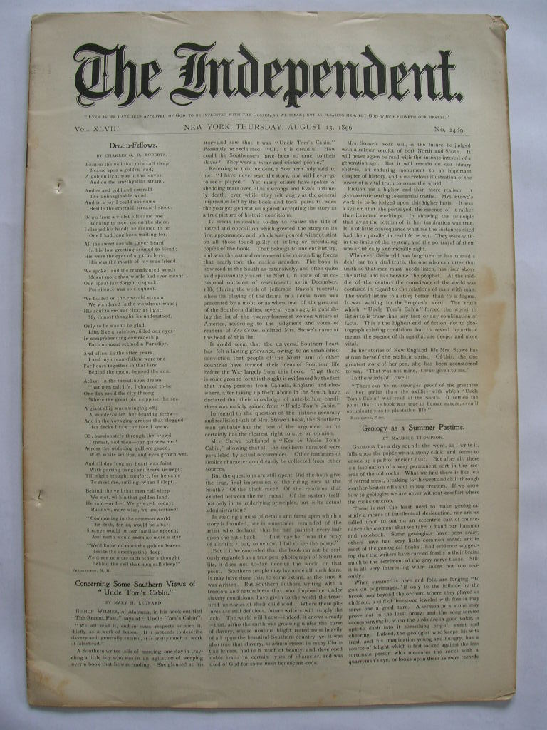 The Independent Vol XLVIII August 13, 1896 No. 2489