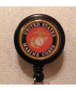 Marines Badge Reel Id Holder Military Alligator Clip Handmade New - $8.99