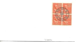 BACHE (DD-470) 1 Oct 1951 Locy Type 9efu affixed to envelope Recommissoned - $3.47