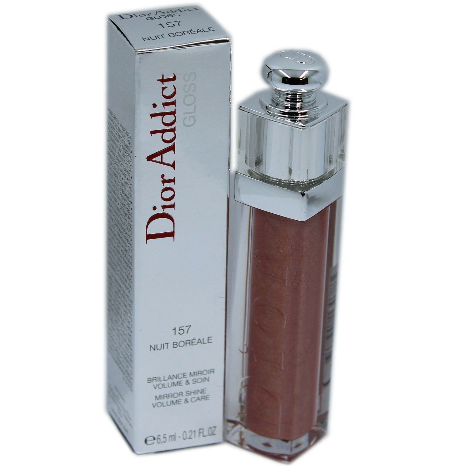 DIOR ADDICT GLOSS MIRROR SHINE VOLUME & CARE 6.5ML #157 NUIT BOREALE NIB - $33.17