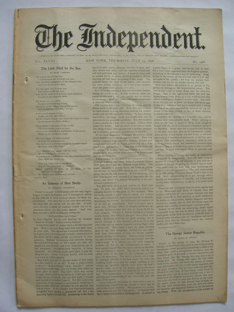 The Independent Vol XLVIII July 23 1896 No. 2486