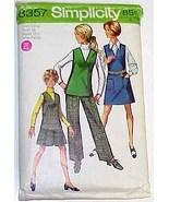 1969 JUMPER-TOP-SKIRT-PANTS Pattern 8357-s Size 14 MP - $9.99