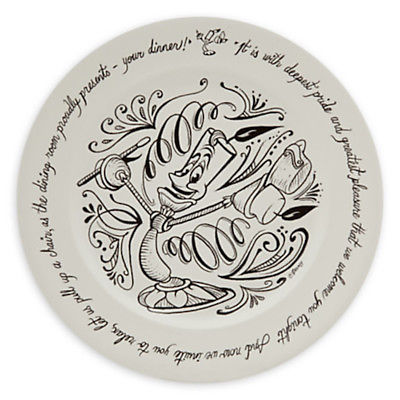 Disney Parks Chalkboard Be Our Guest Ceramic Dinner Plate White New