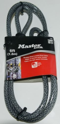 Master Lock Company LLC 78D Braided Steel Looped End Cable Gray