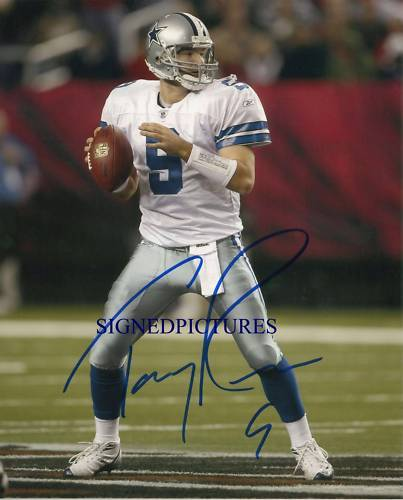 TONY ROMO SIGNED AUTOGRAPHED 8X10 RP PHOTO DALLAS COWBOYS QB